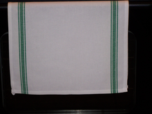 Load image into Gallery viewer, Striped Kitchen Towel with Merry Christmas Y'All