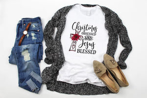Christmas Obsessed and Jesus Blessed t-shirt