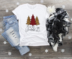 Christmas Tree Shirt, It's The Most Wonderful Time of the Year T-shirt