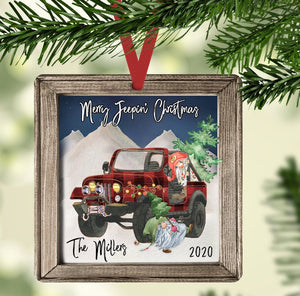 Merry Jeepin' Christmas, Christmas Ornament