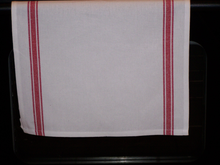 Load image into Gallery viewer, Striped Kitchen Towel With Christmas Design