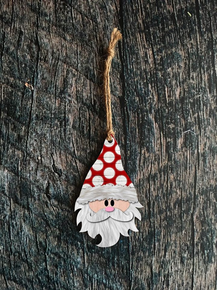 Santa Gnome Ornament