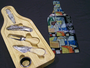 Personalized Cheese and wine set, wine set, wedding gift, realtor gift