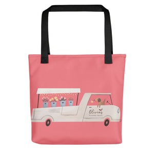 Flower Truck Tote bag