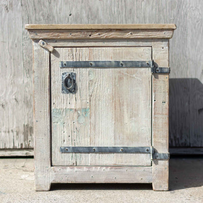 White Nightstand / Concrete Top - Brighams Furniture