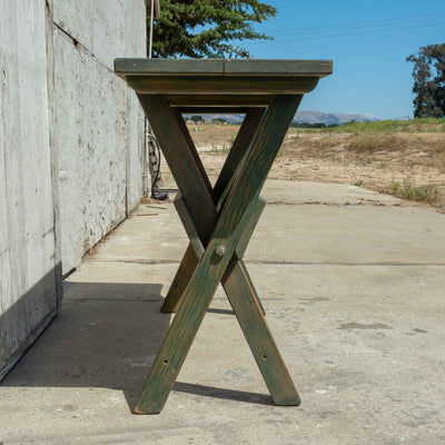 Green Folding Sawbuck Table - Brighams Furniture