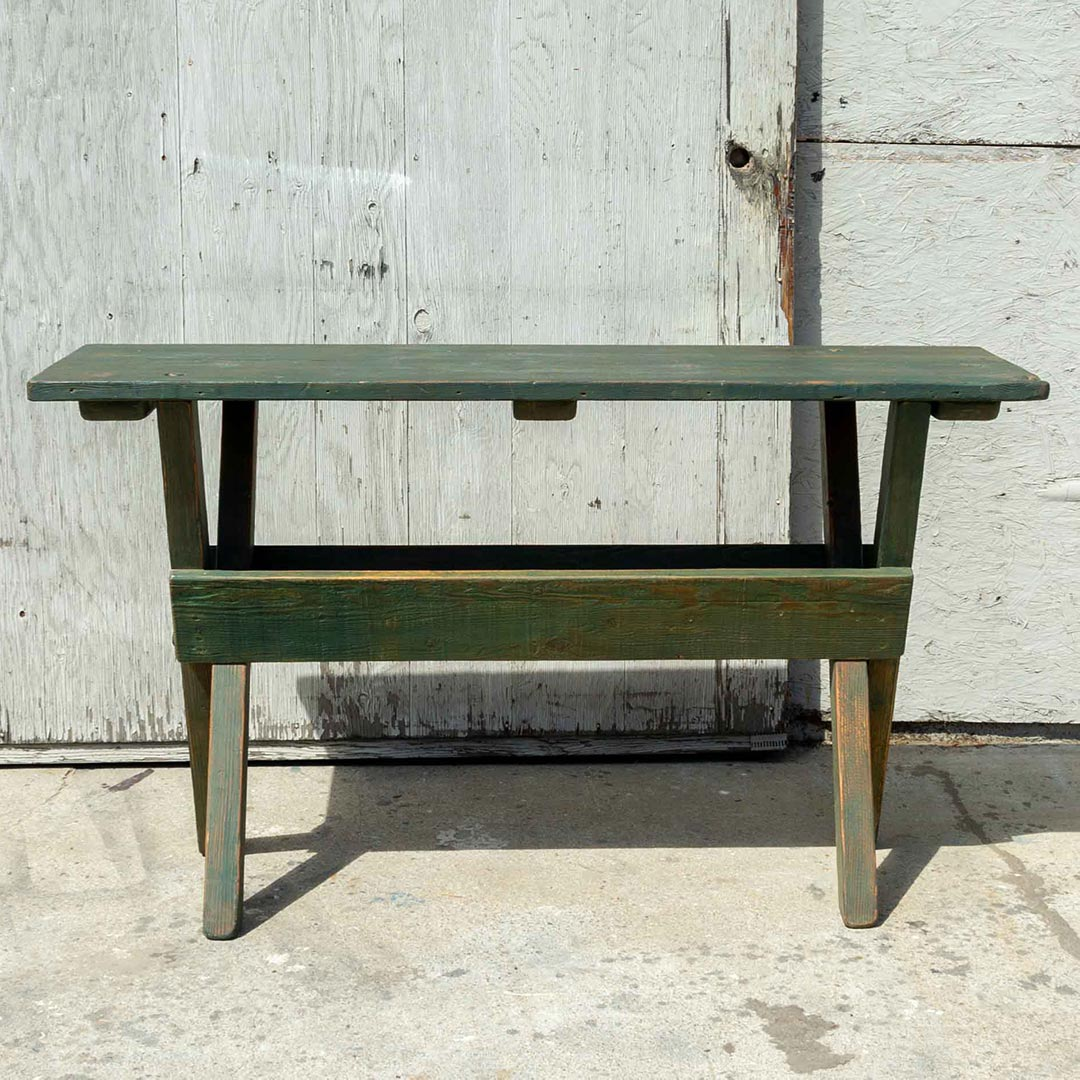 Green Folding Sawbuck Table