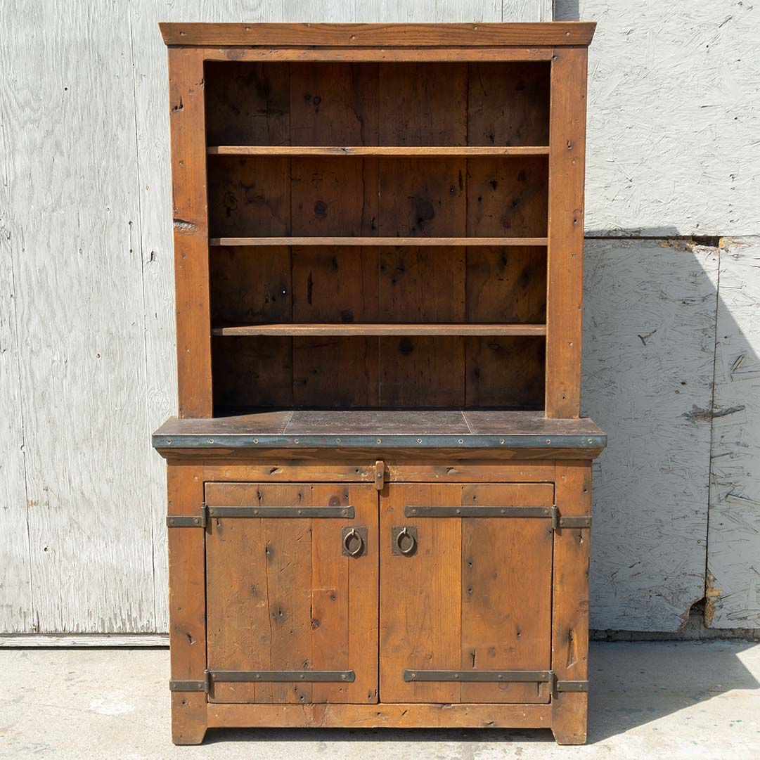 Rustic Stepback Hutch - Brighams Furniture