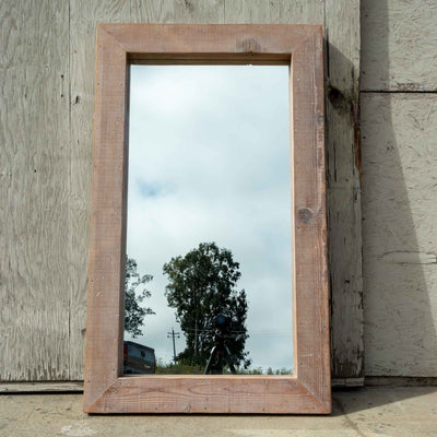 Waxed Wood Mirror - Brighams Furniture