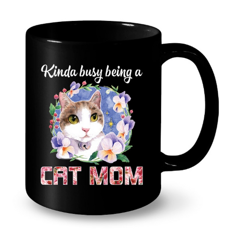 Cat Mugs Being a Cat Mom