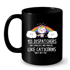 Cat Mugs 911 Dispatchers