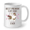 Image of Cat Mugs Best Freaking Cat Dad Ever