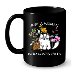 Cat Mug Black Std
