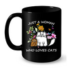 Image of Cat Mug Black Std