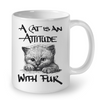 Image of Cat Mugs Attitude with Fur