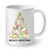 Image of Cat Mugs Meowy Christmas