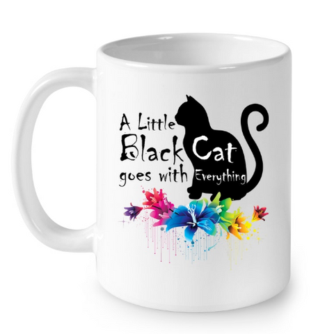 Cat Mugs Little Black Cat
