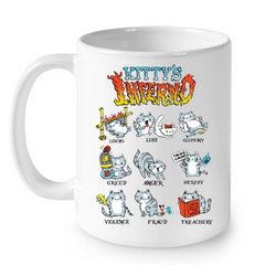 Cat Mugs Kitty Inferno