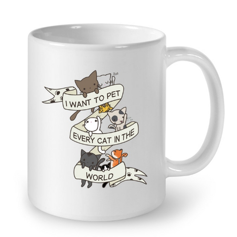 Cat Mugs I Want To Pet