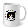 Image of Cat Mugs I Hate Everyone