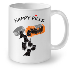 Cat Mugs Happy Pills