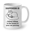Image of Cat Mugs Happiness is Falling Asleep