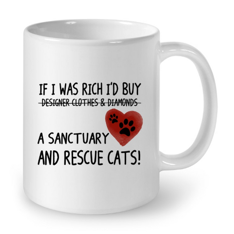 Cat Mug White Std