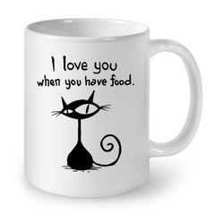 Cat Mugs I Love You