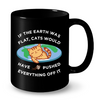 Image of Cat Mugs If the earth was flat bl
