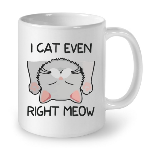 Cat Mugs I Cat Even Right Meow