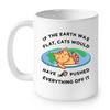 Image of Cat Mugs If The World was Flat