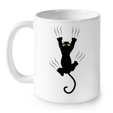 Cat Mugs Funny Black Cat 2