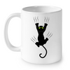 Image of Cat Mugs Funny Black Cat 2