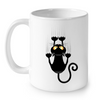 Image of Cat Mugs Funny Black Cat