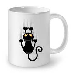 Cat Mugs Funny Black Cat