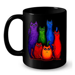 Cat Mugs Color Cats