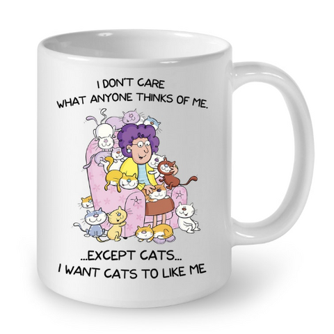Cat Mugs I Don't Care