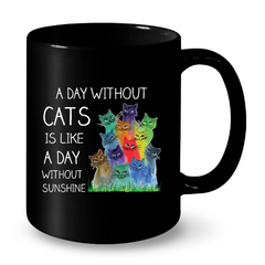 Cat Mugs A day without Cats