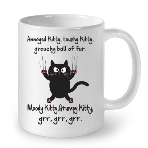 Cat Mugs Annoyed Kitty