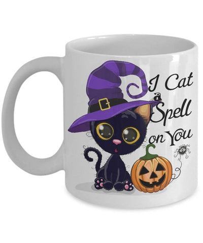 Cat Mug Halloween - Cat spell on you