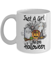 Cat Mug Halloween - Just A Girl