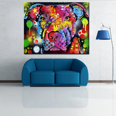 Brooklyn Pitbull Oil Painting Large Size Wall Art Picture For Living Room