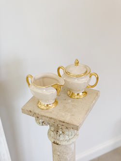 Precious Pearlescent Cream and Sugar Set