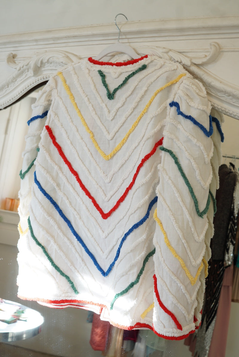 Large 70's Blanket Top