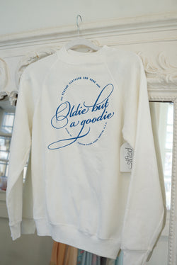 Small/Med White Oldie But A Goodie Sweatshirt