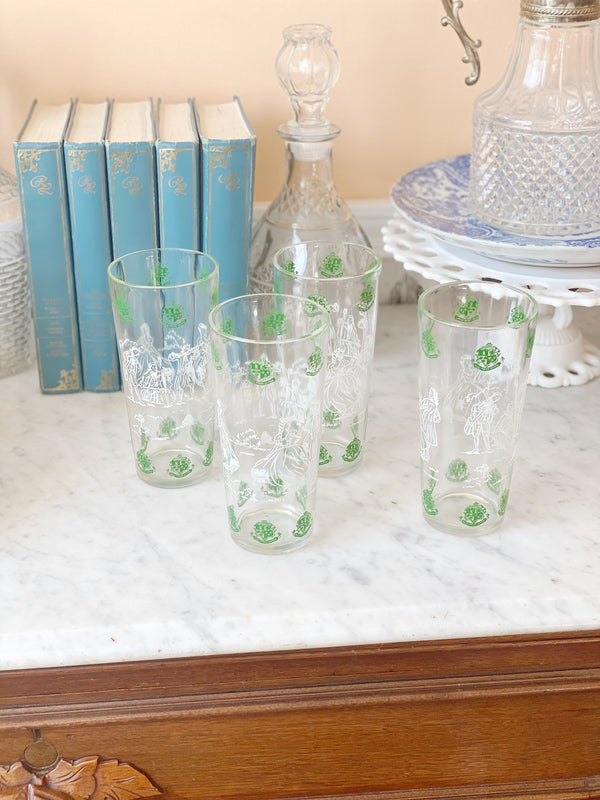 Incredible Vintage Crest Highball Glasses