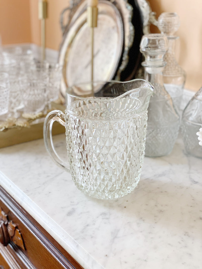 Beautiful Vintage Textured Pitcher