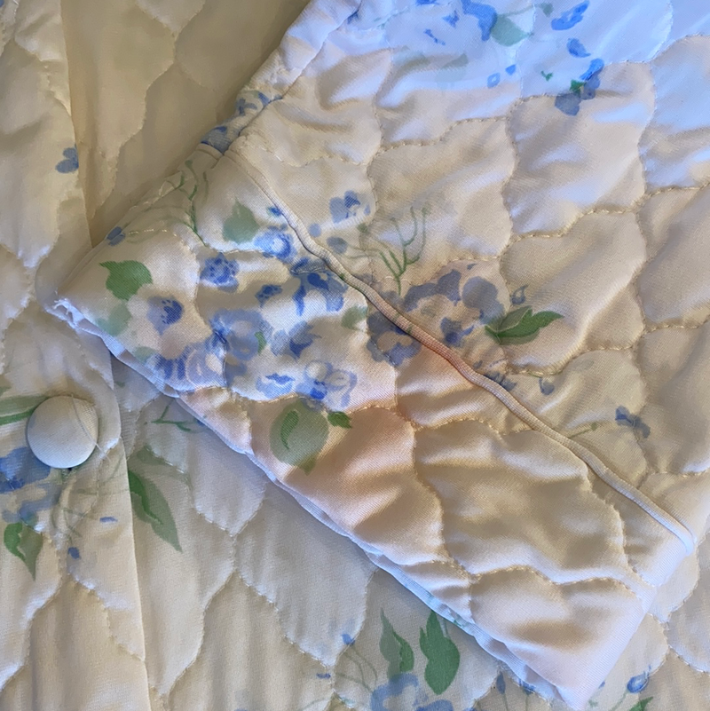 Medium Satin Hydrangea Bed Coat