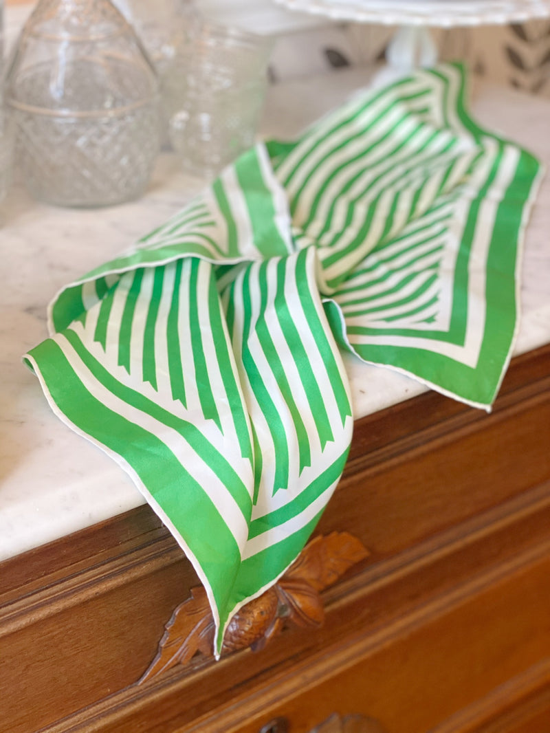 Fabulous Green Striped Scarf