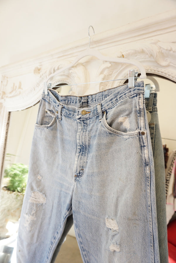 36x32 Extra Light Wash Wrangler Denim